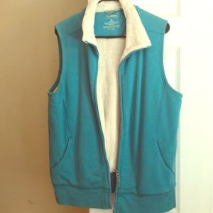 Fuzzy lined vest